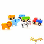 Влакче с животни Train Set Accessory - Wild Animals
